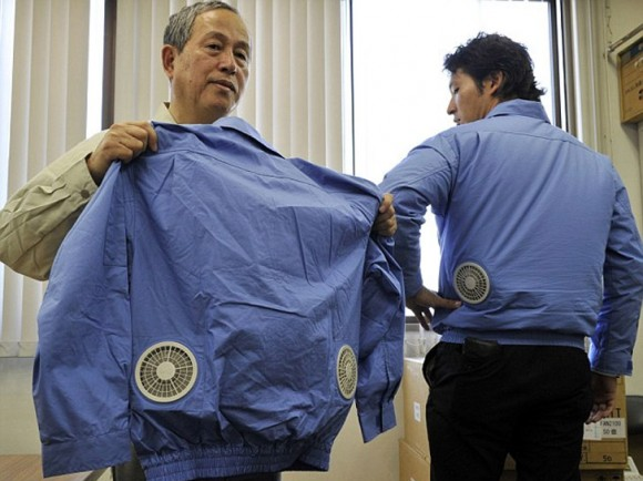Ιαπωνία κλιματιστικό σακάκι 1 580x434 Cool κλιματισμός jacket από Kuchofuku