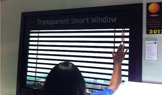 Samsung smart window Samsung Smart Window, The Giant Transparent iPad from CES!
