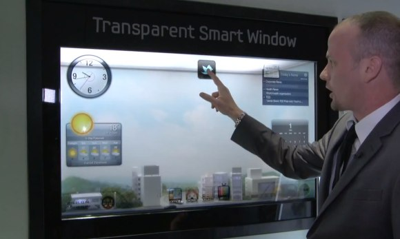 samsung transparent smart window Samsung Smart Window, The Giant Transparent iPad from CES!